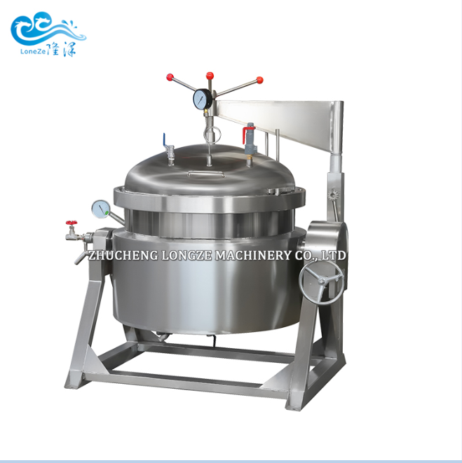 Big Capacity Industrial High Pressure Vacuum Cooking Pot For Cookig Hard Bone Soup Making Candied Fruits