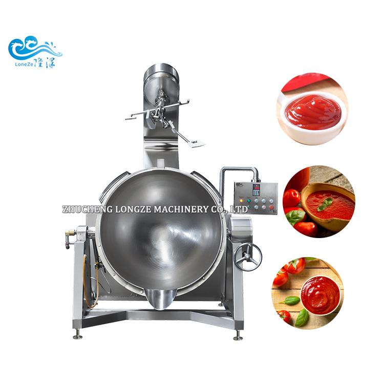 CE Certification Semi Auto Garlic Sauce Cooking Mixer Machine manufacturer