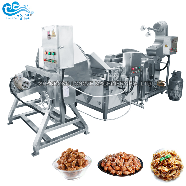 Commercial Big Capacity Almond Nuts Roasting Frying Processing Machine High Quality