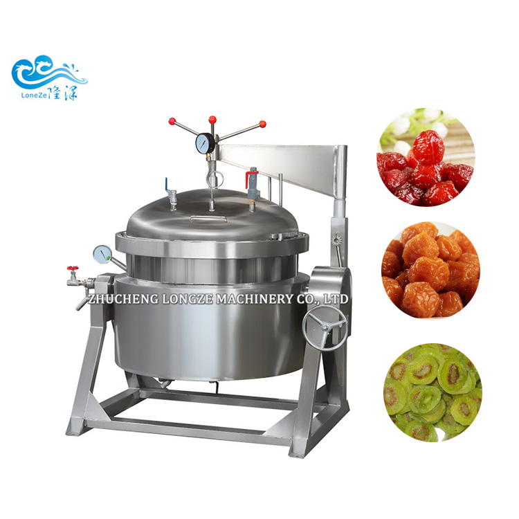 Thermal Oil Type Industrial Vacuum Cooking Pot Kettle For Making Candy Fruits Sugar Infiltrated vacuu