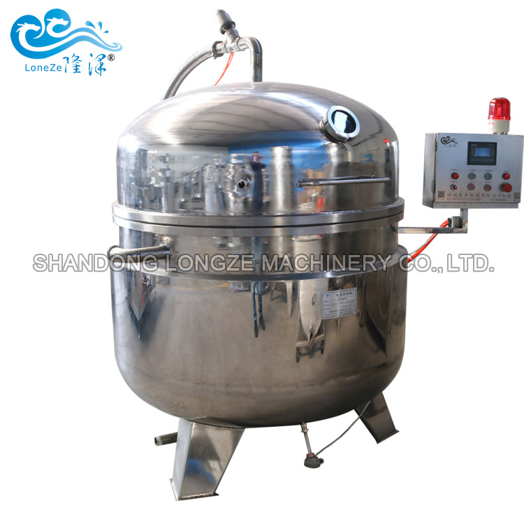 Soy Beans Chickpeas Sweet Corn High Pressure Vacuum Cooking Pot 300l High Pressure Stainless Steel Co