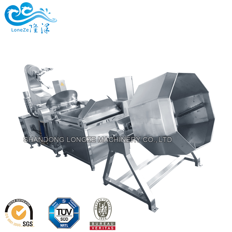 Commercial Big Capacity Almond Nuts Roasting Frying Processing Coating Machine For Sale