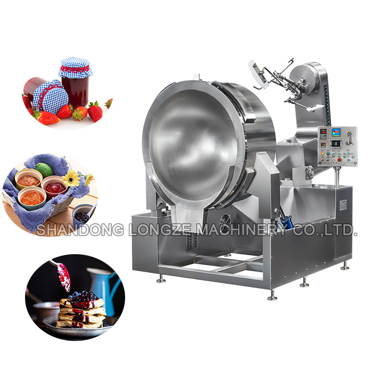 100-650L Tilting Food Cooker Gas Steam Jacketed Kettle With Mixer/Kettle Fruit Jam Cooking Equipment