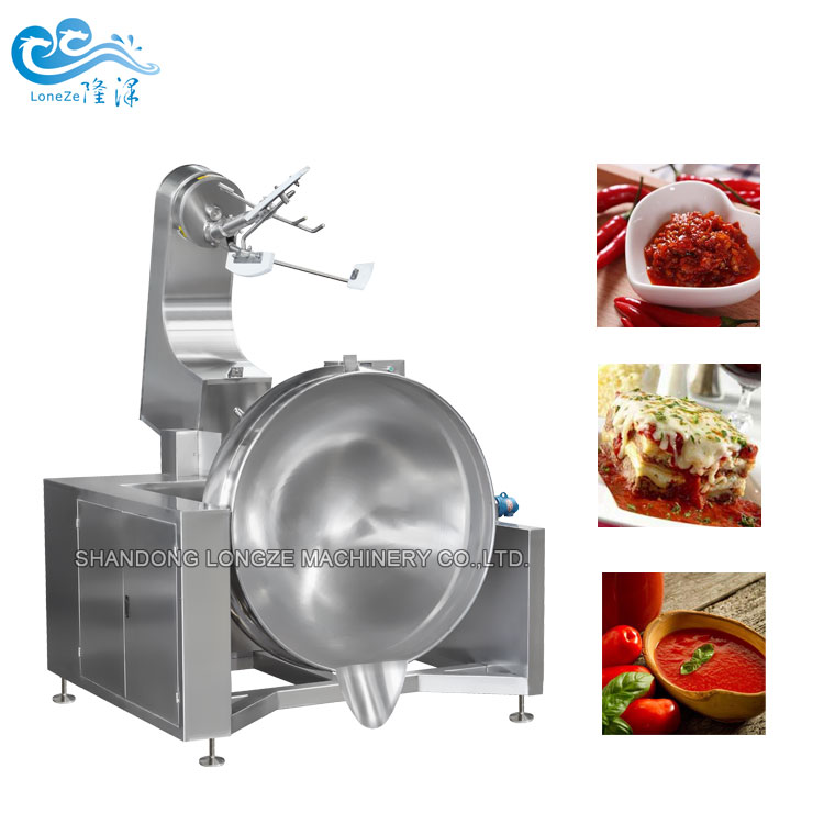 Steam Heated Titable Food Jacketed Kettle With Mixe