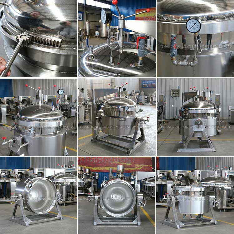 Industrial High Pressure Cookers are ideal for cooking and stewing meat, vegetables, legumes and cereals.