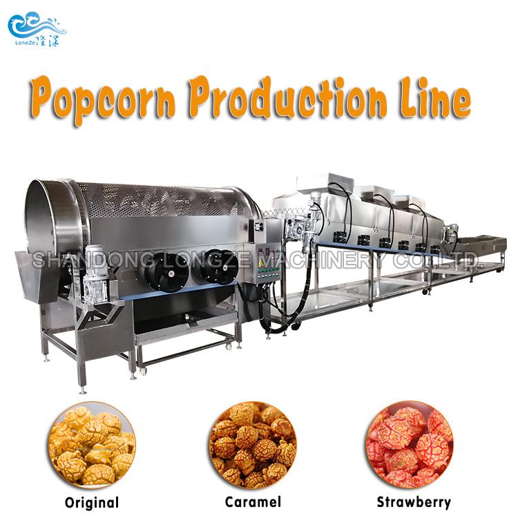 Automatic Caramel Popcorn Production Machine For Po