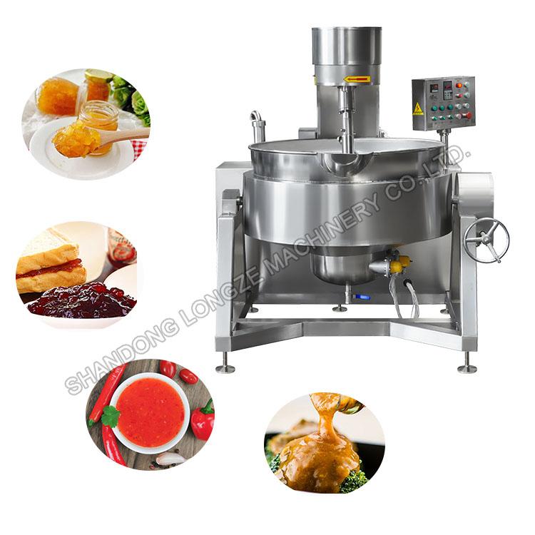 Semi-automatic Chilli Sauce Cooking Mixer Machine