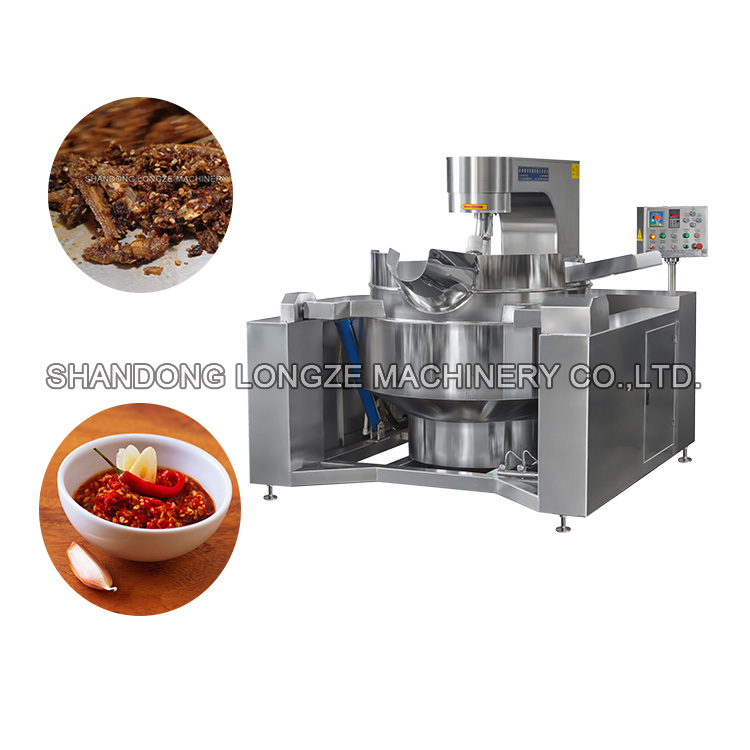 Full Automatic Chilli Sauce Cooking Mixer Machine