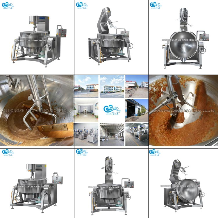 Industrial Cooking Jacketed Kettle Pot Mixer Machine With Planetary Mixing Agitator