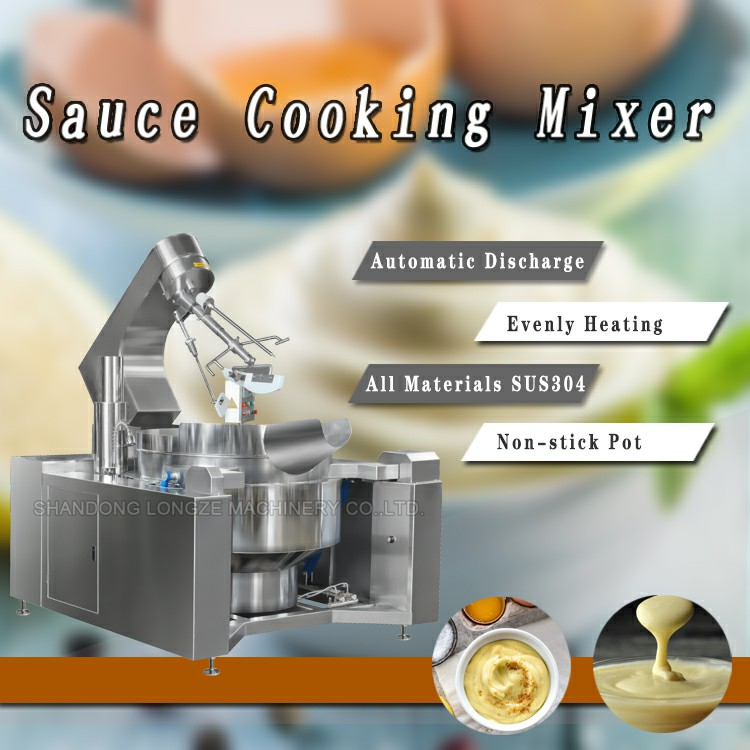 High Capacity Cheese Sauce Cooking Mixer Machine Jacketed Kettle With Mixer