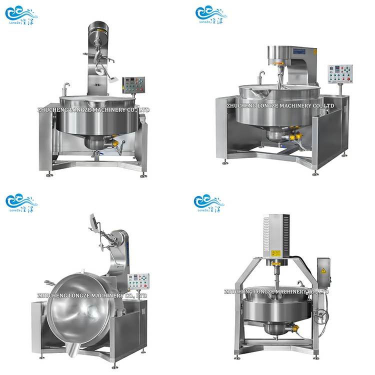 Industrial Automatic Salad Dressings Cooking Jacketed Kettle/Mayonnaise Mixing Machine With Mixer