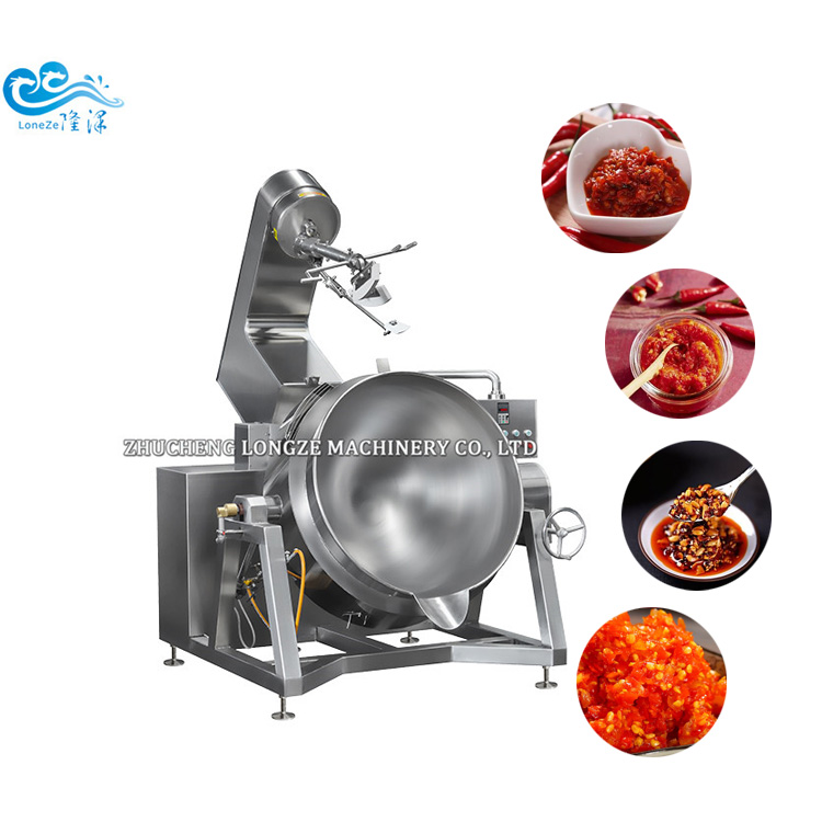 Semi-automatic Cooking Mixer Machine Jacketed Cooking Kettle For Chestnut Paste Best Price