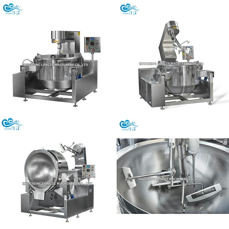 Commercial Cooking Jacketed Kettle With Agitator Cooking Mixer For Jams/Sauce/Paste