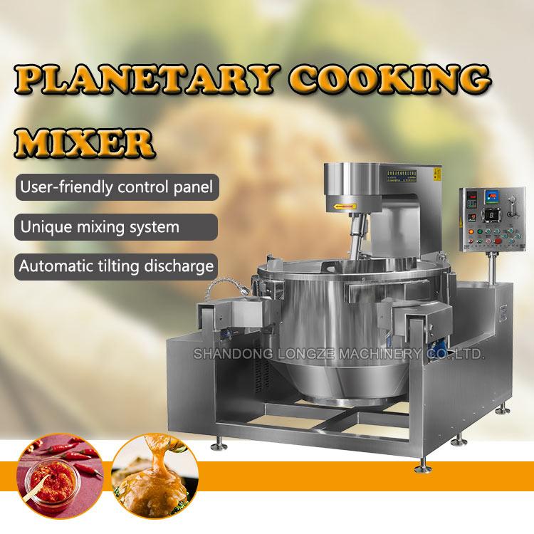 Cheap Big Capacity Double Planetary Cooking Mixer Machine For Chili Sauce Making Machine