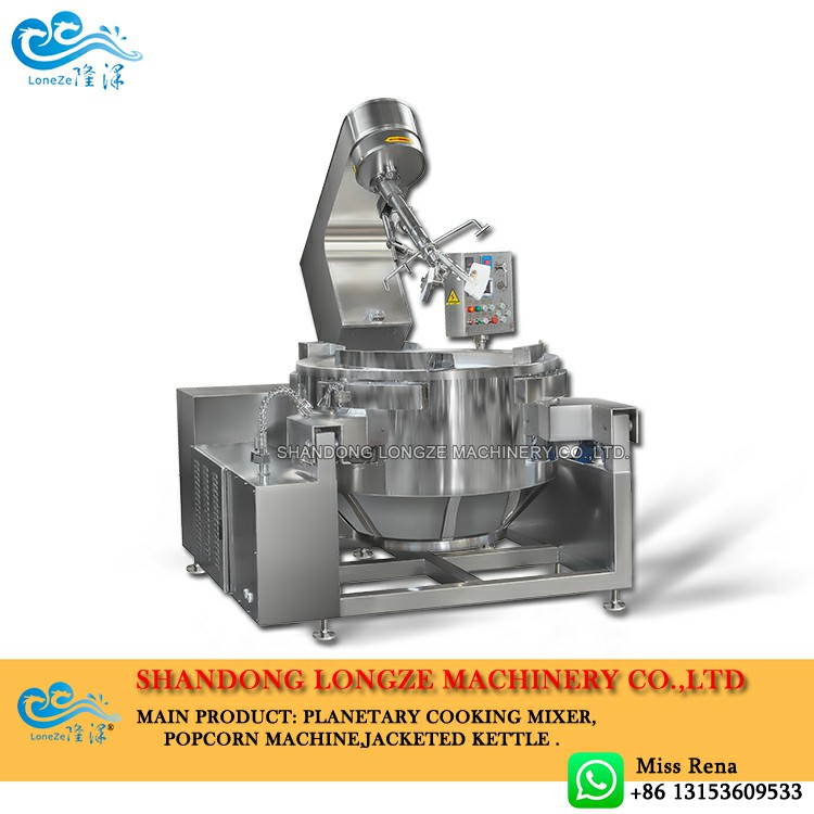 Industrial jacketed kettle for processing beef sauce