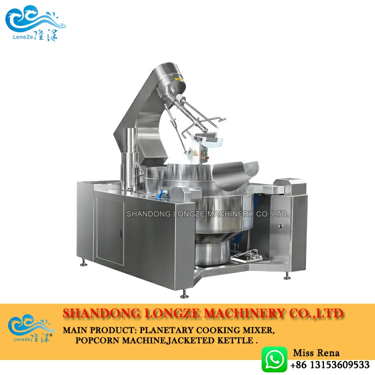 Longze gas heating industrial cooking mixers machine,gas chili sauce cooking mixers kettle