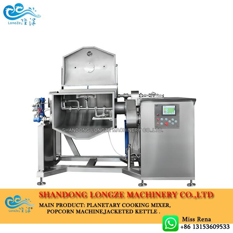 Big Capacity Steam Heating Vacuum Tilting Horizontal Cooking Pot with Mixer