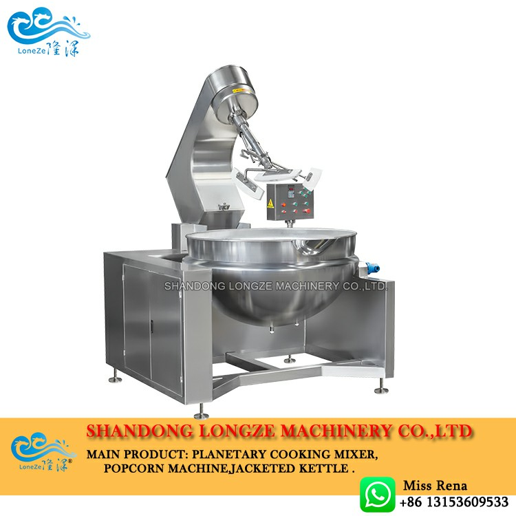 Industrial sauce paste cooking mixers machine is an advanced cooking system for making gravies, curries, saute vegetables, sweets, stir-frying, and various foodstuffs which involve cooking and mixing functions.