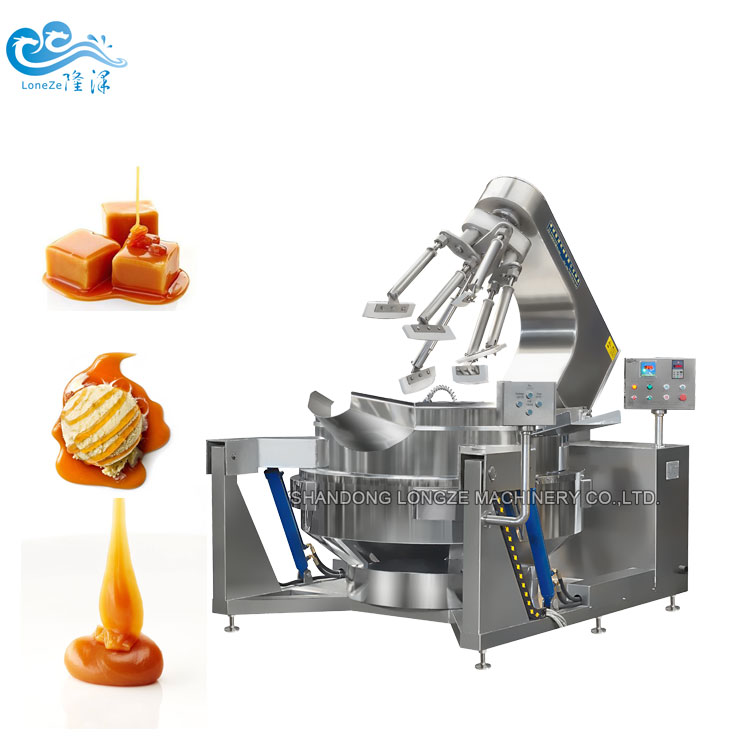 Pistachios Cashews Making Commercial Cooking Mixer Machine Equipment Cooking Jacketed Kettle With Agi