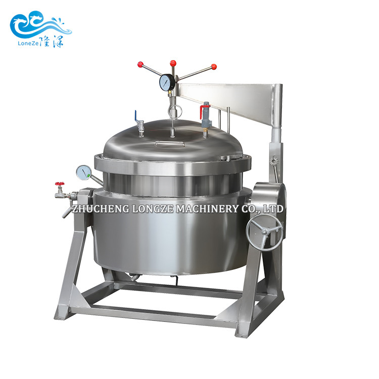 Industrial High-pressure Cooking Kettle Machine For Cooking Hard Materials Like Bones Beans Meat Soup