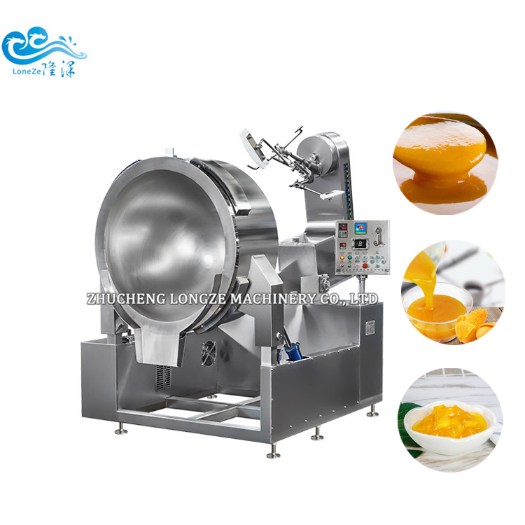 Pineapple Jam Cooking Mixing Machine With Fully Automatic Strirring