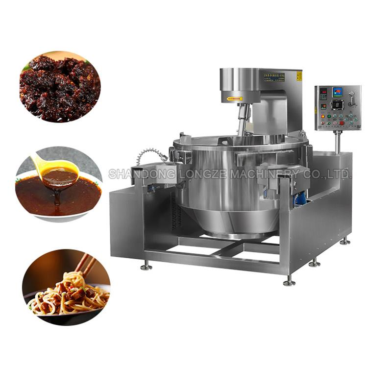 Industrial Soup Cooker Automatic Stirring Cooking Mixer Machine