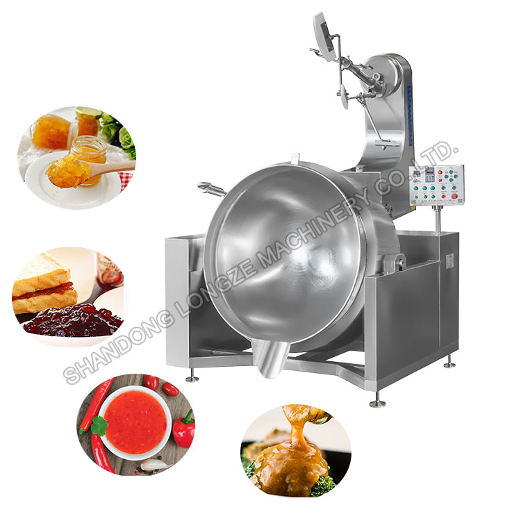 Automatic Fried Ginger Paste Cooking Mixer Machine|Cooking Ginger Paste Mixing Machine
