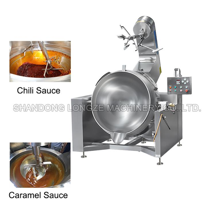 Chili Sauce Commercial Cooking Mixer/Industrial Chili Sauce Making Machine