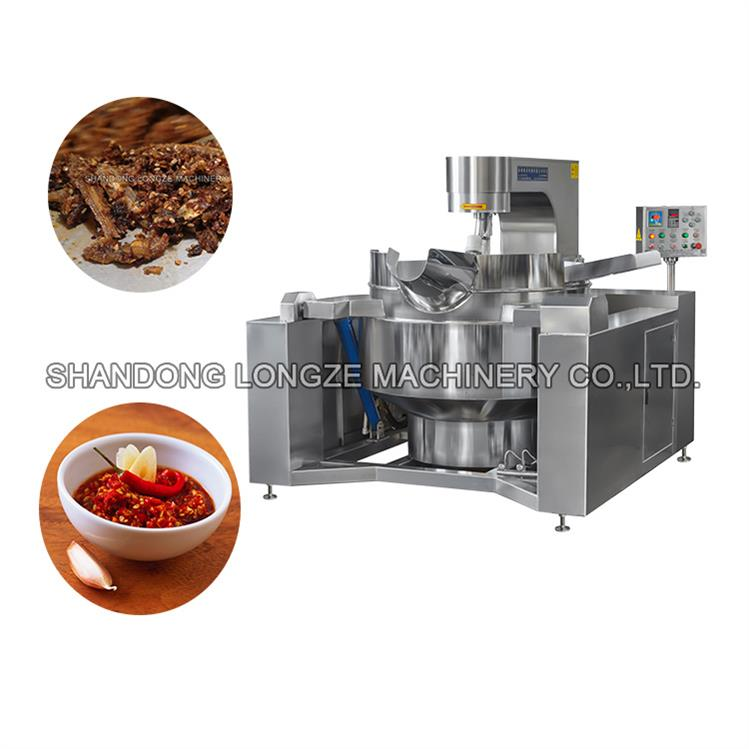 Commercial Gas Heated Chili Sauce Cooking Mixer Machine Large Capacity Price