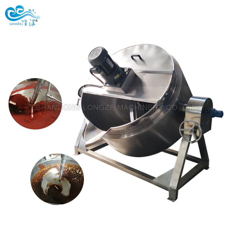 Hazelnut Jam Automatic Jacketed Cooking Kettle With