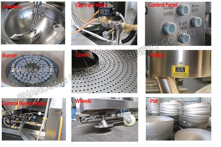 Large Commercial Food Mince Meat Filling Cooking Mixer Machine Factory Supply