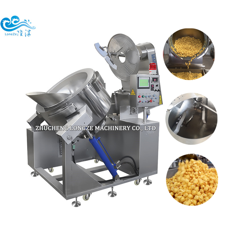 High Quality Big Capacity Industrial Tomato Flavored Popcorn Machine Supplier
