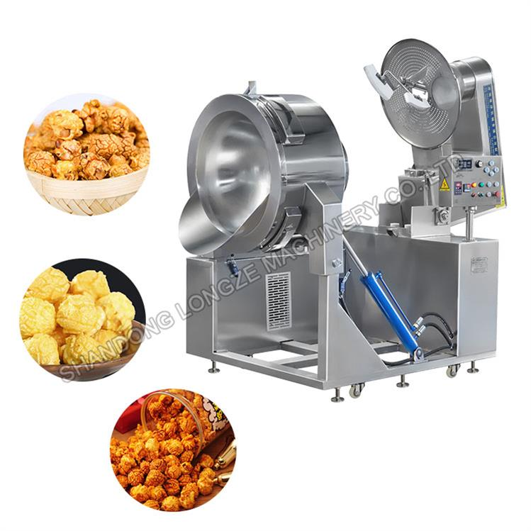 Industrial Full Automatic Caramel/Cheese/Chocolate/Savoury Spicy Popcorn Machine