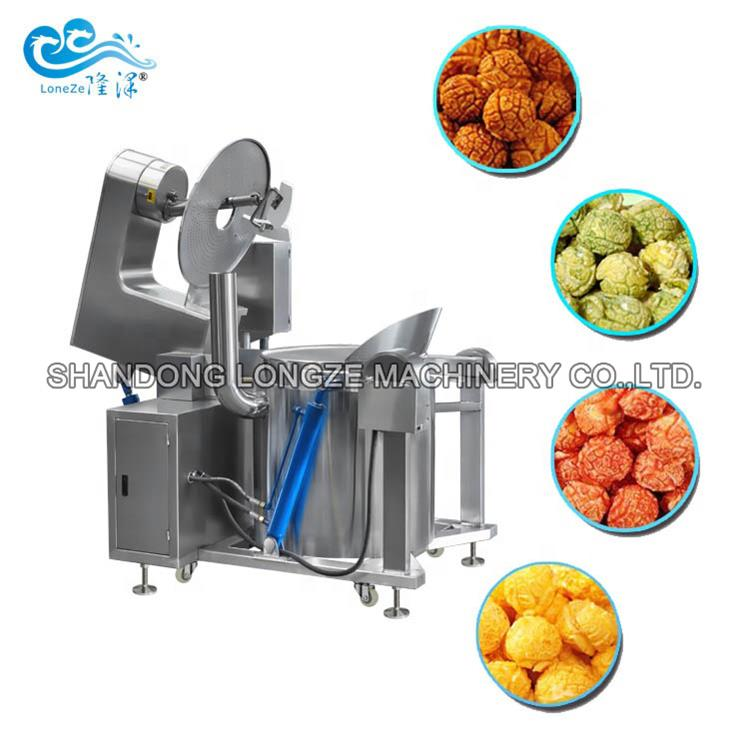 Caramel Automatic Kettle Corn Machine With Ce Comme