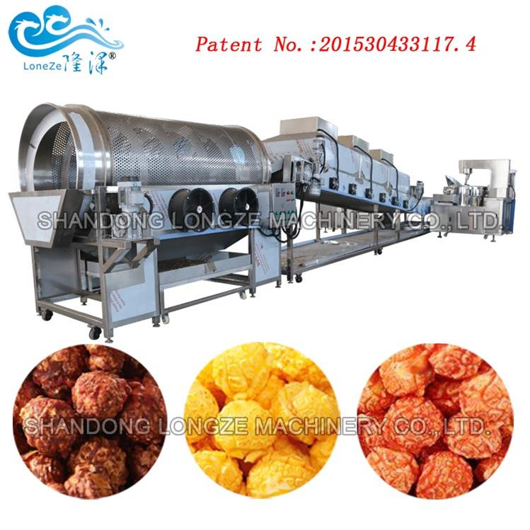 Automatic Continuous Popcorn Processing Production