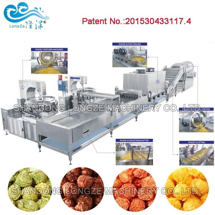 200kgs/h Automatic Mushroom Popcorn Production Line